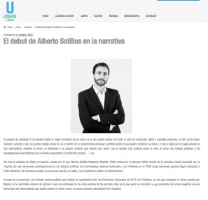 El debut de Alberto Sotillos en la narrativa